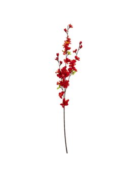 Wilko Red Blossom Single Stem Artificial Flower Wilko Red Blossom Single Stem Artificial Flower by Wilko