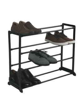 Simplify 12 Pair Stackable Shoe Rack by Simplify