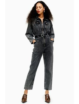 Petite Acid Wash Boiler Suit by Topshop