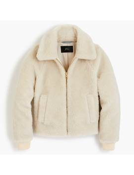 Plush Fleece Bomber Jacket by J.Crew