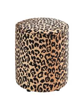 Leopard Drum Ottoman by Pier1 Imports