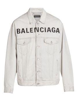Oversized Logo Denim Jacket by Balenciaga