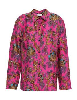 Printed Silk Twill Shirt by Sandro