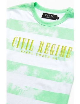 Civil Tie Dyed Striped Luke T Shirt by Pacsun