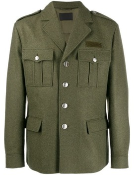 Buttoned Military Jacket by Prada
