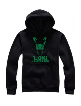 New Trendy Fashion Loki Logo Printed Long Sleeve Loose Fit Pullover Hoodie by Beautiful Halo