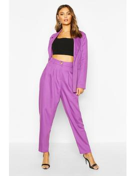 High Waisted Exaggerated Tapered Tailored Trouser by Boohoo