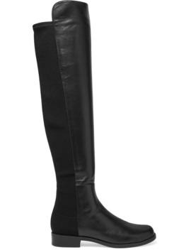 5050 皮革氯丁橡胶及膝长靴 by Stuart Weitzman