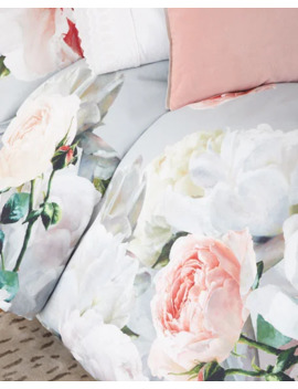 Designers Guild Peonia Grande Zinc Queen Duvet And Matching Items by Designers Guild