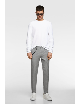 Textured Weave Pants Trousers Basics Man by Zara