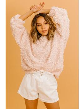 Open Arms Blush Sweater by Luca And Grae