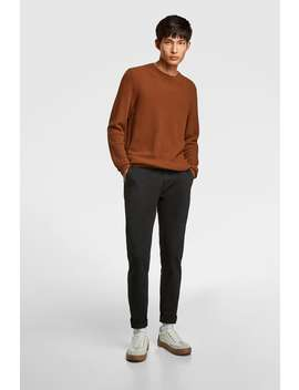 Skinny Chino Pants Trousers Basics Man by Zara
