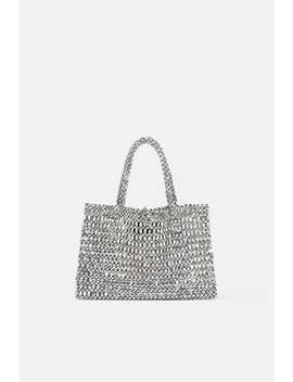 Metallic Effect Mini Tote Bag View All Bags Woman by Zara