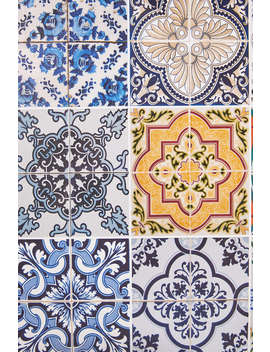 Multi Azulejos Kitchen Tile Decal by Urban Outfitters
