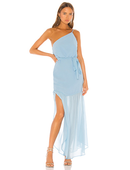 Monalisa Gown In Baby Blue by Majorelle