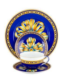 4 Piece Cocarde De Soie Tableware Set by Hermès