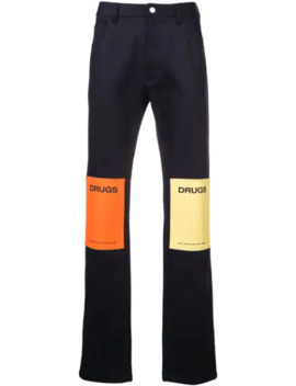 Drugs Straight Jeans by Raf Simons