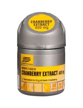 Boots Cranberry Extract 400mg   30 Tablets by Boots Pharmaceuticals