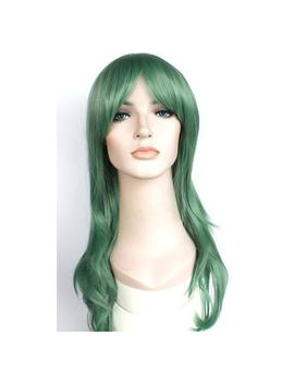 Long Wavy Jade Green Wig. High Quality Wig. Ready To Ship. New Year Party Hair. Costume Wig For Women. by Etsy