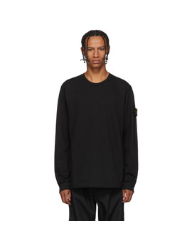 Black Crewneck Long Sleeve T Shirt by Stone Island