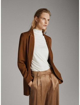 Fliessendes Einfarbiges Top by Massimo Dutti