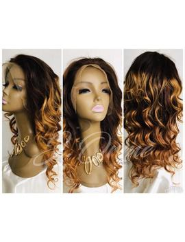 Sassy Brazilian Body Wave Lace Frontal Human Hair Wigs 1b/30 Lace Front Wigs Layered With Baby Hair Natural Hairline Lush Remy Hair Lush by Etsy