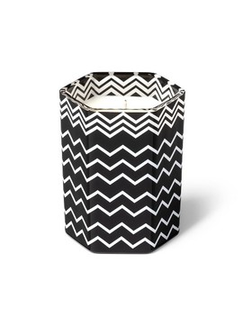 7.1oz Black And White Zig Zag Glass Jar Candle Amberwood Jasmine   Missoni For Target by Missoni For Target