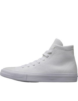 Converse X Nike Flyknit Chuck Taylor All Star Hi Trainers White by Converse