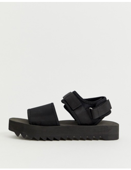Asos Design Sandals In Black With Chunky Sole And Tech Straps by Asos Design