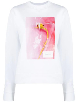 Printed Crew Neck Sweatshirt by Calvin Klein