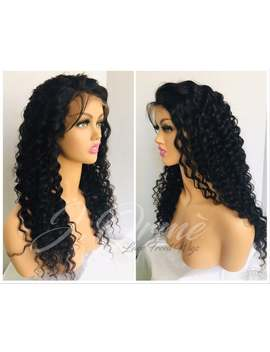 Gorgeous Brazilian Deep Wave Lace Frontal Human Hair Wigs Front Lace Wigs With Baby Hair Natural Hairline 150% Lush Remy Hair by Etsy