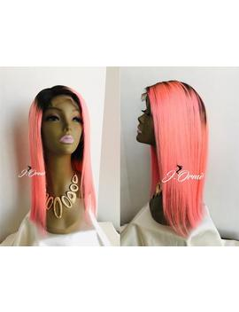 Cute Pastel Pink 100 % Human Hair Lace Front Wig Ombre Lace Closure Wig   Pretty Pastel Pink Human Hair Wig by Etsy