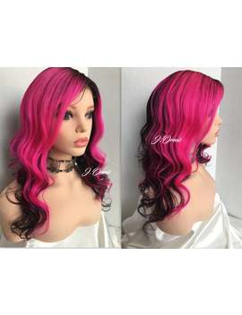 Pink Pizzaz Human Hair Ombre Lace Front Wig Human Hair Wig Lace Closure Wig   Pretty In Pink Human Hair Wig 18\ by Etsy