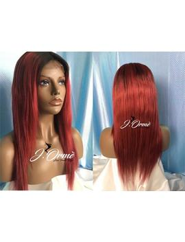Sleek Human Hair 1b/99 J Radiant Red Ombre Beach Body Wave Lace Front Wig Human Hair Wig Lace Closure Wig   Red Human Hair Wig by Etsy