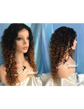 Lovely 100% Brazilian Human Hair Ombre Deep Wave Lace Front Closure Wig Human Hair Wig    Gorgeous Ombre 1b/4/27 Human Hair Wig by Etsy