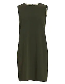 Crepe Sleeveless Shift Dress by Theory