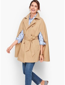 Belted Trench Cape by Talbots