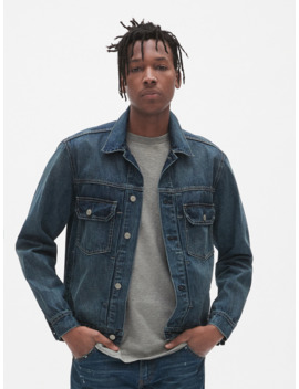 '80s Worker Pleated Denim Jacket by Gap