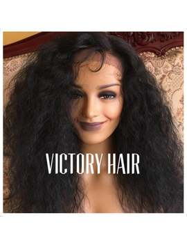 Full Afro Natural Wavy Lace Front Wig. Human Hair Blend by Etsy