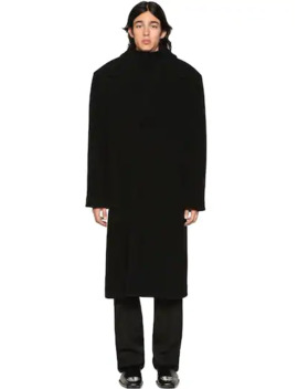 Over Herringbone Wool Blend Coat by Balenciaga