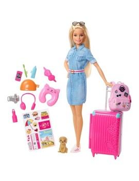 Barbie Travel Doll & Puppy Playset by Barbie
