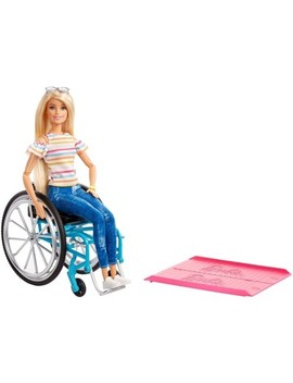 Barbie Fashionistas Doll #132 Blonde With Rolling Wheelchair And Ramp by Barbie