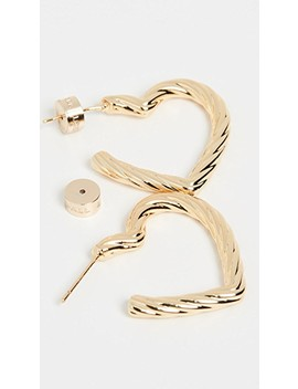 Billie Large Twisted Heart Earrings by Loeffler Randall