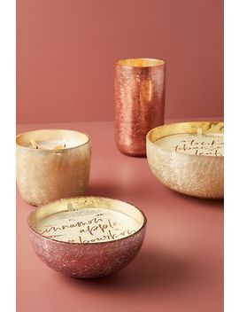 Craquelle Glass Candle by Anthropologie