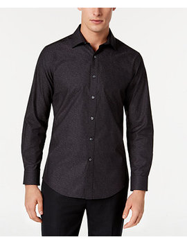 Men's Wear Me Out Slim Fit Stretch Easy Care Printed Dress Shirt, Created For Macy's by General