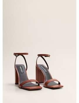 Bilekten Bağlamalı Deri Sandalet by Mango