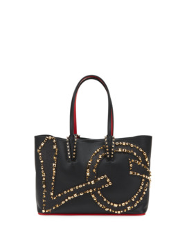 Cabata Small Love Calf Paris Tote Bag by Christian Louboutin