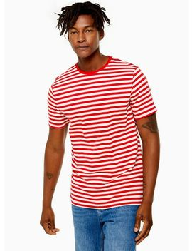 Only & Sons Red Jamie Stripe T Shirt by Topman