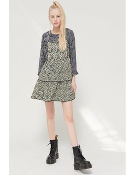 Uo Hanna Scallop Babydoll Mini Dress by Urban Outfitters