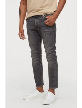 Slim Cropped Selvedge Jeans by H&M